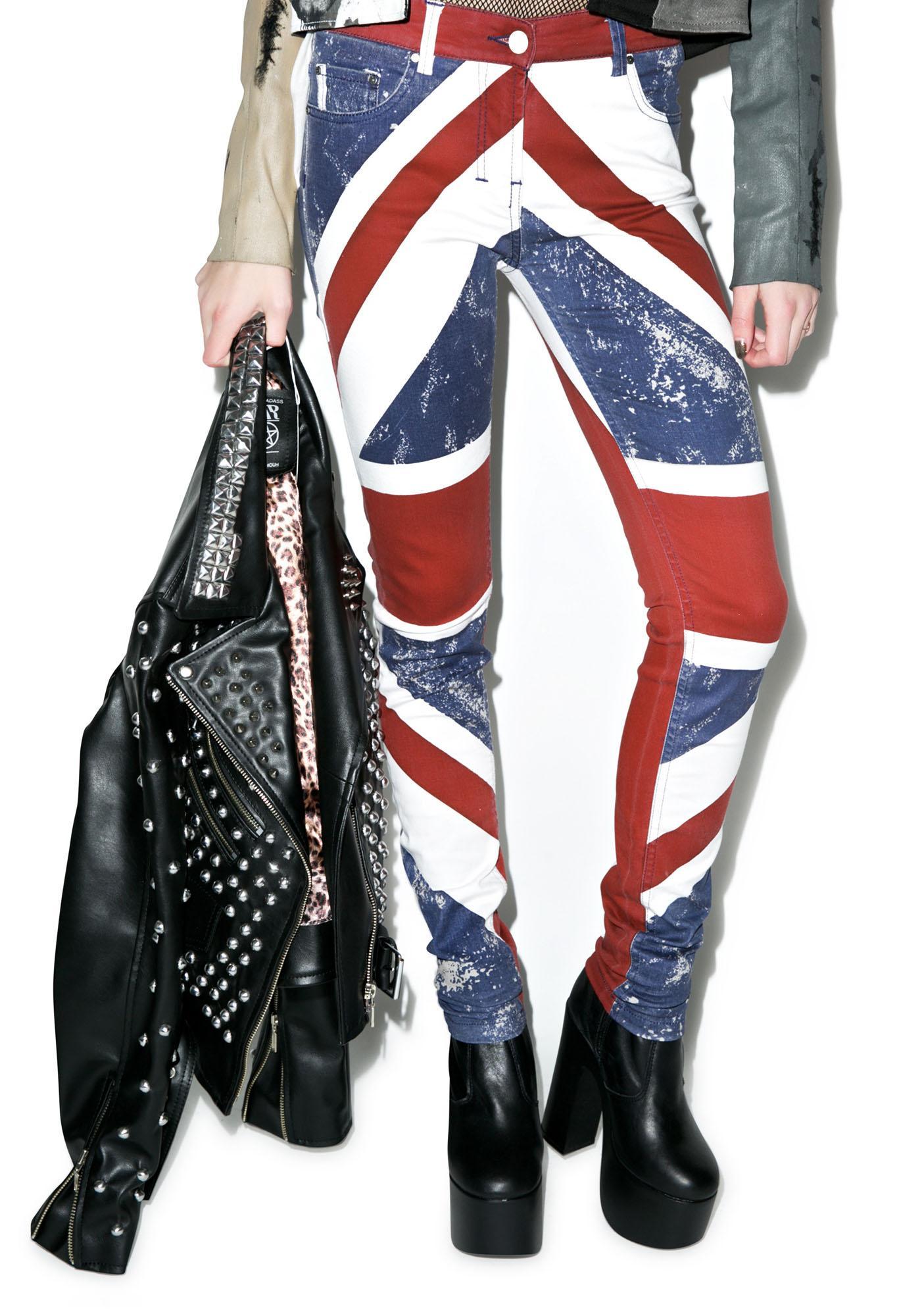 Religion Union Jack Skinny Jeans