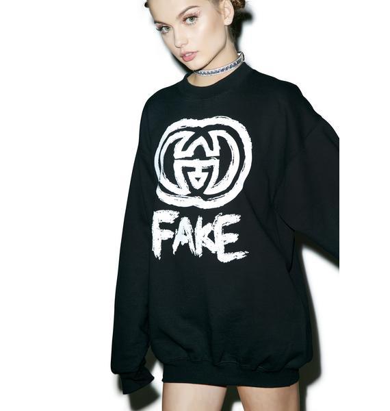 Petals and Peacocks Fake GG Sweatshirt