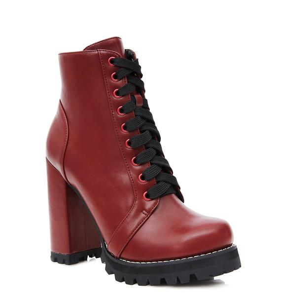 Current Mood Burgundy Imogen Boots