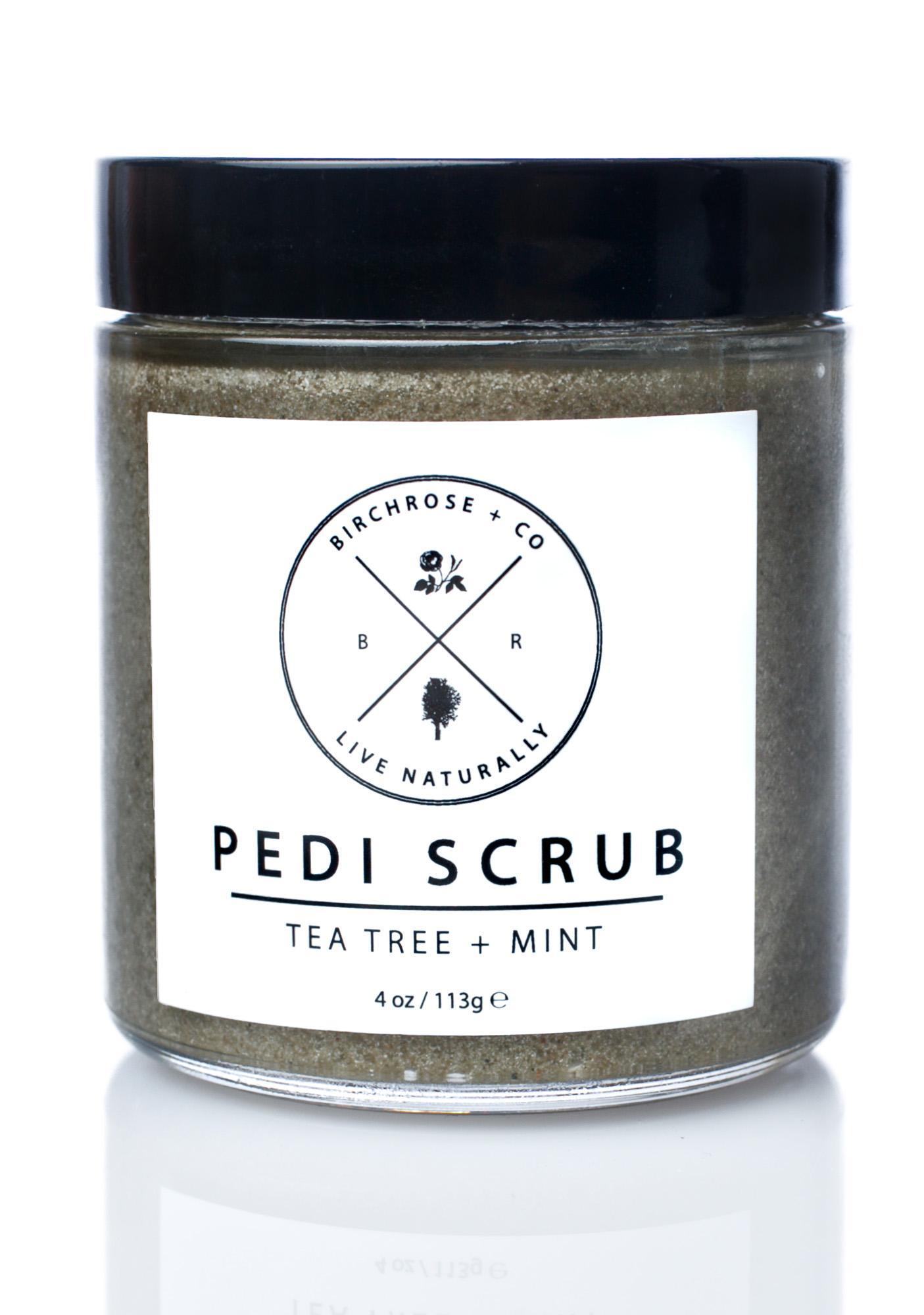 Birchrose + Co Tea Tree + Mint Pedi Scrub