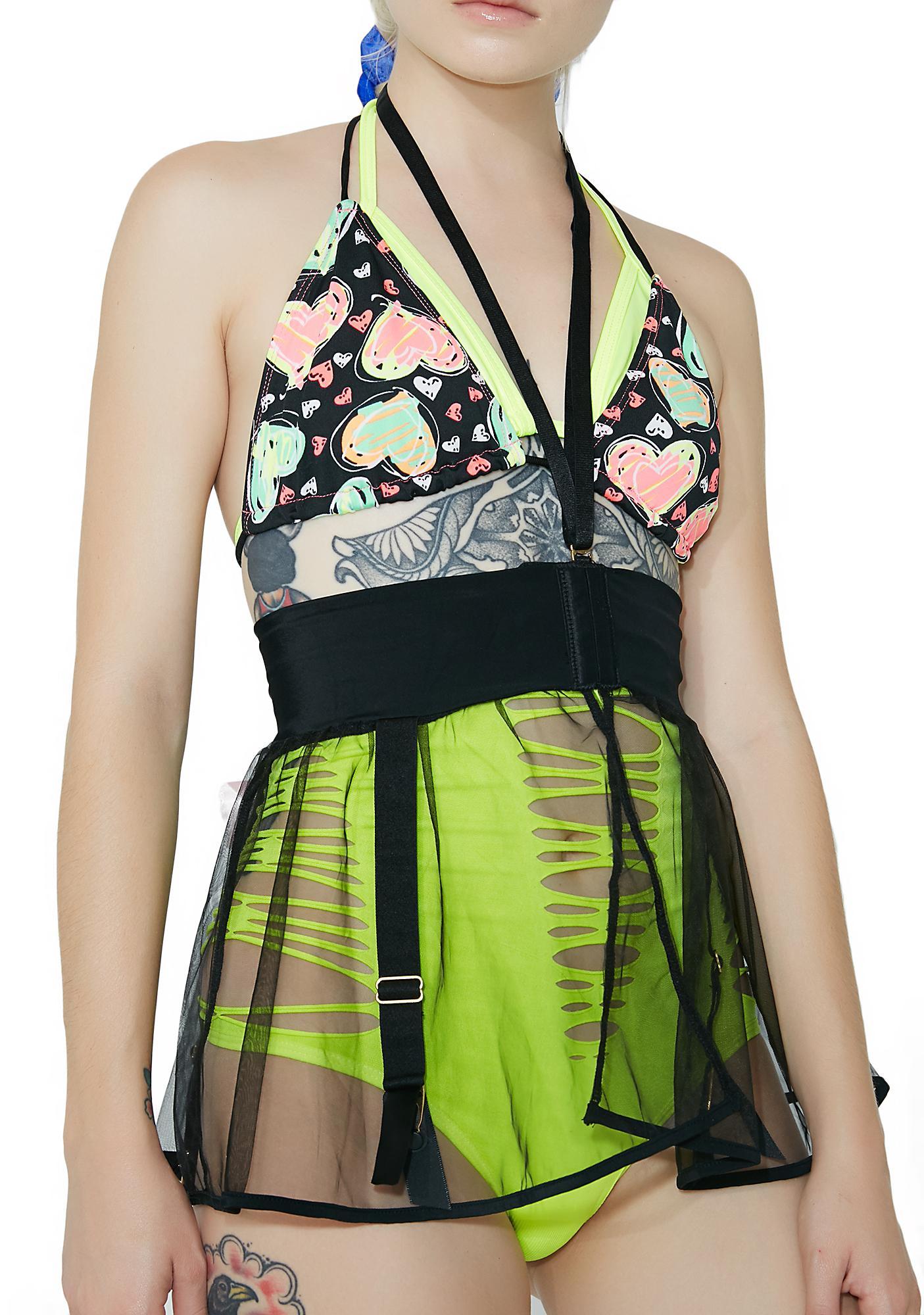 Caia Sheer Garter Skirt