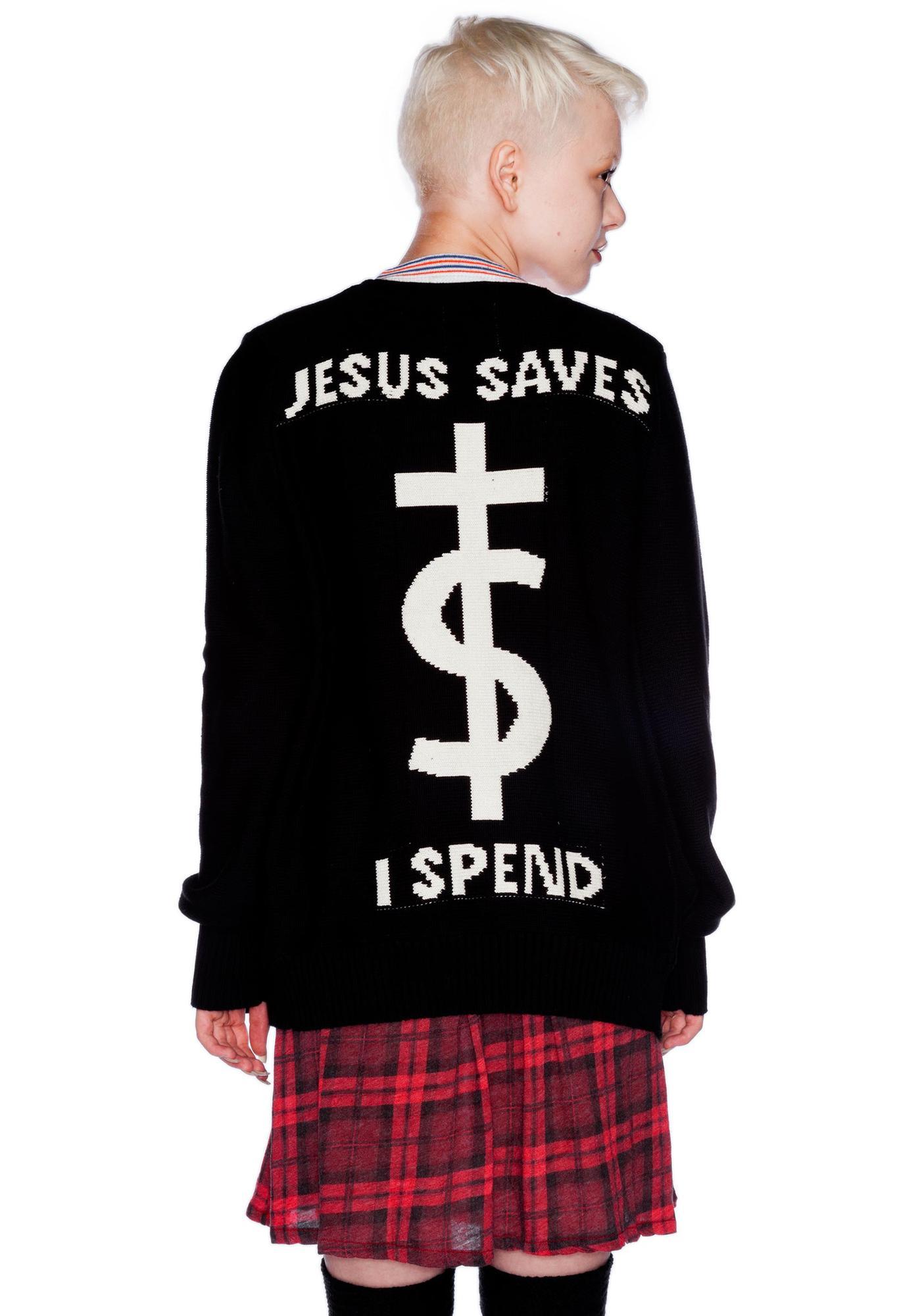 UNIF Jesus Saves Cardigan