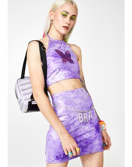 Lavender Slit Skirt