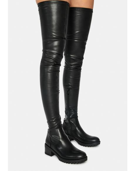Donna Surgical Thigh High Boots