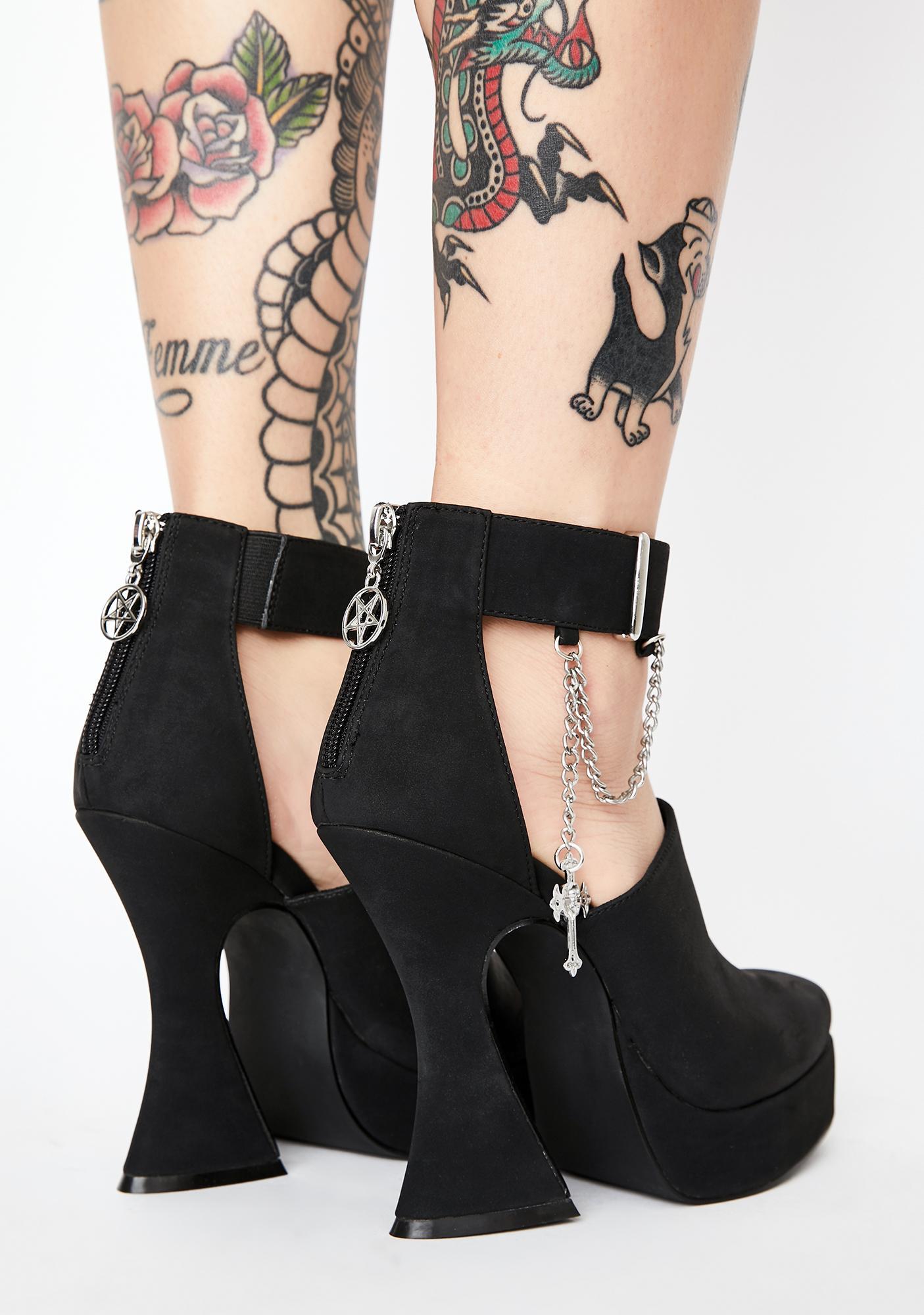 Disturbia Charmed Platform Heels