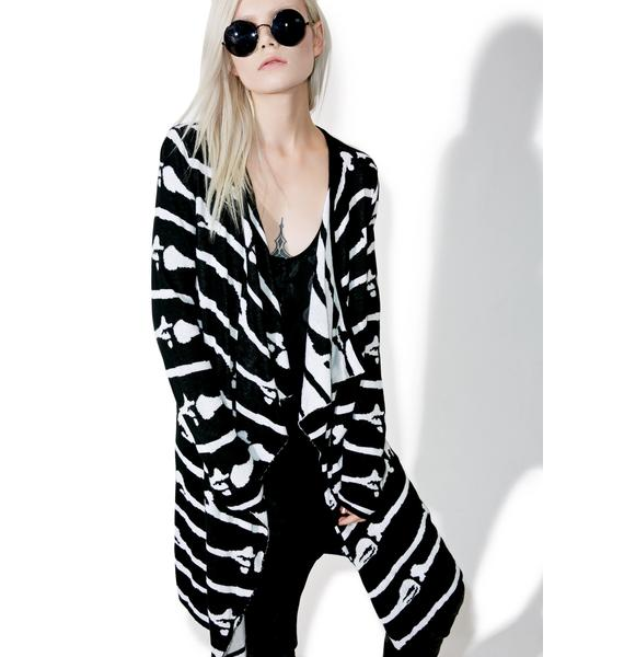 Iron Fist Bone Me Cardigan