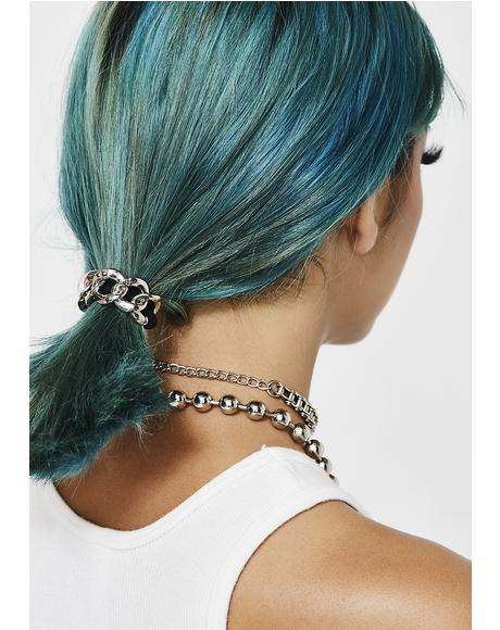 Hold Me Back Chain Hair Tie