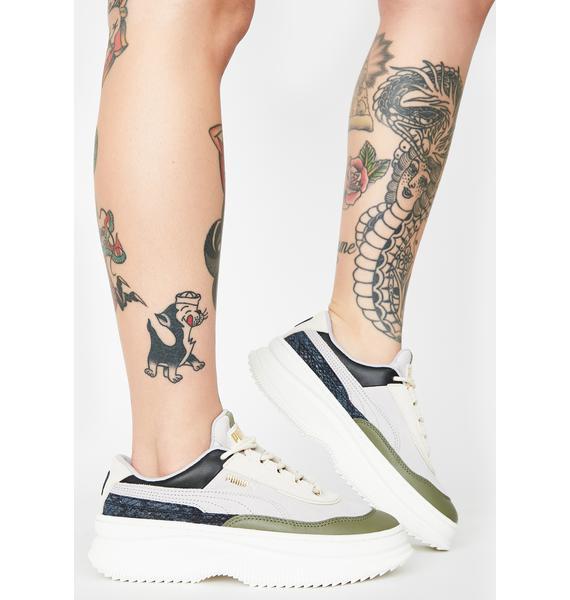PUMA Deva Reptile Platform Sneakers