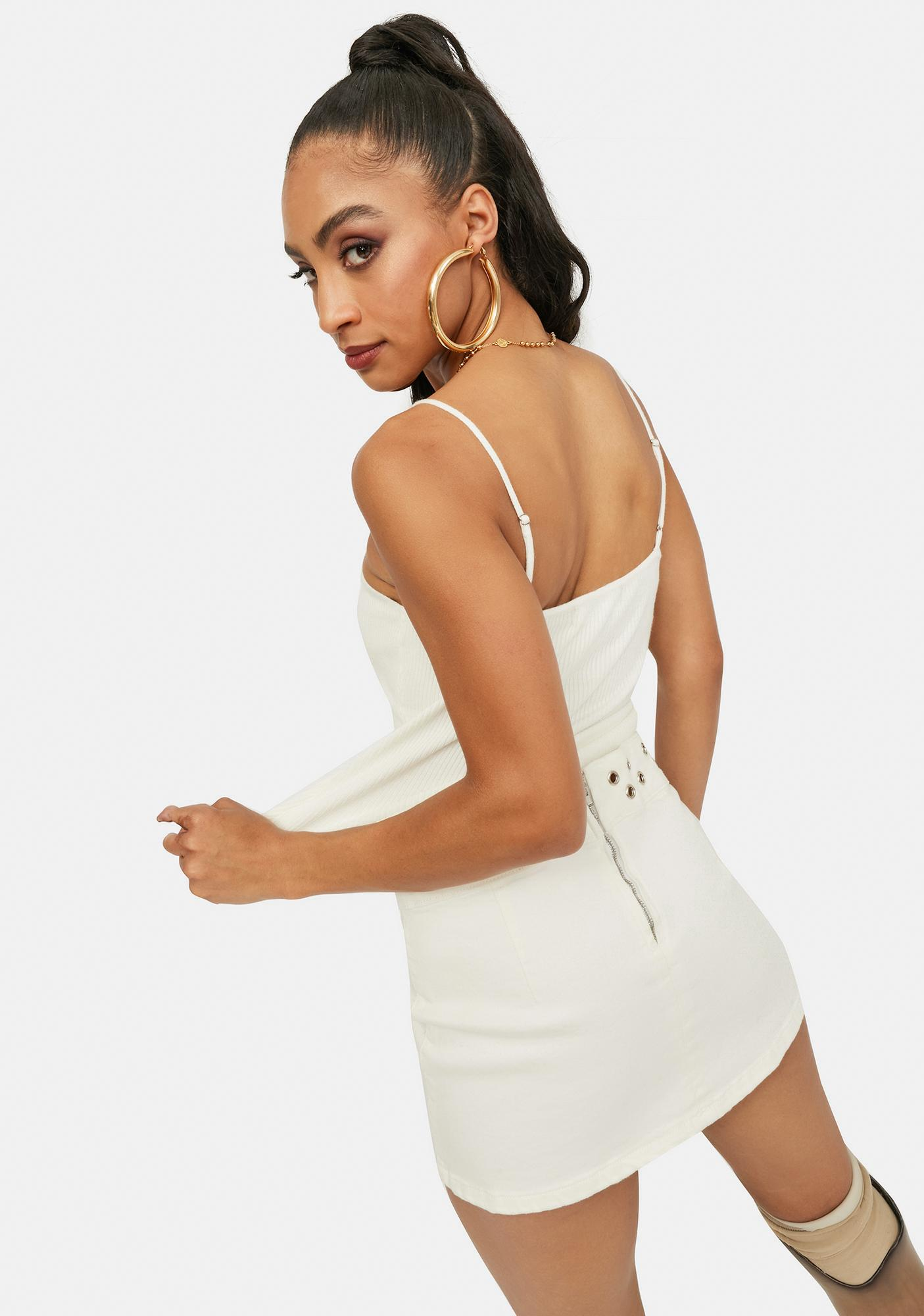 Icy And Back Again Cutout Crop Top