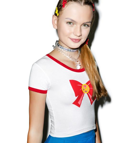 O Mighty Sailor Scout Ringer Tee