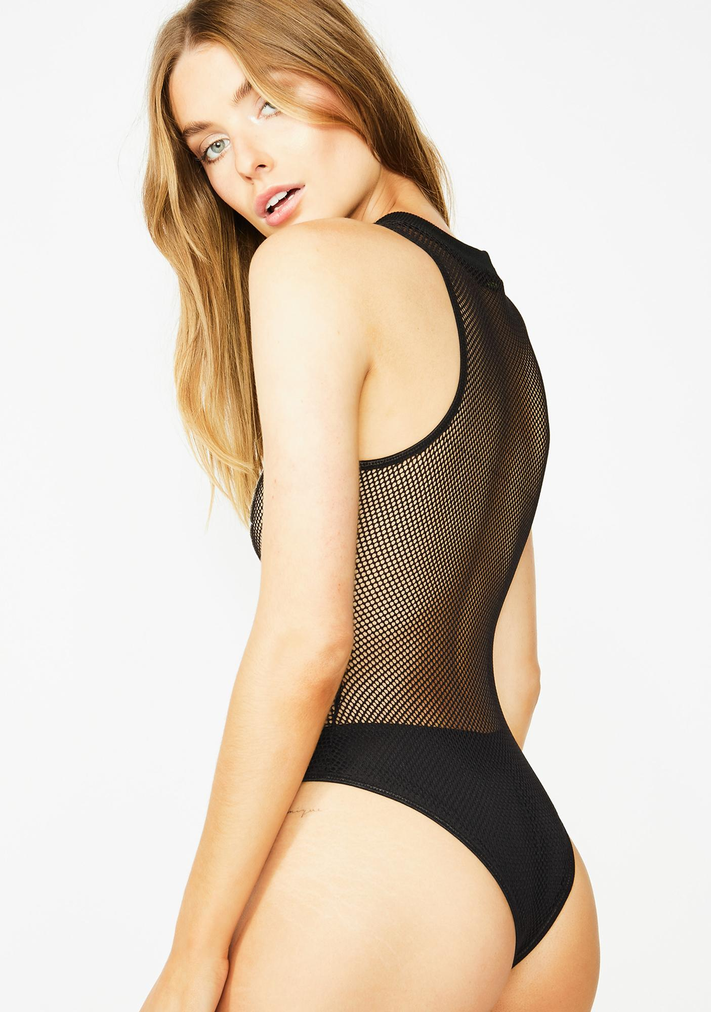 Club Exx Thunderwave Fishnet Bodysuit