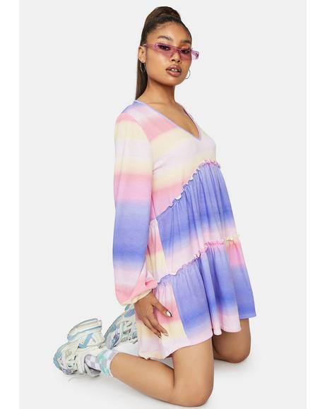 Cosmos Clique Ombre Mini Dress