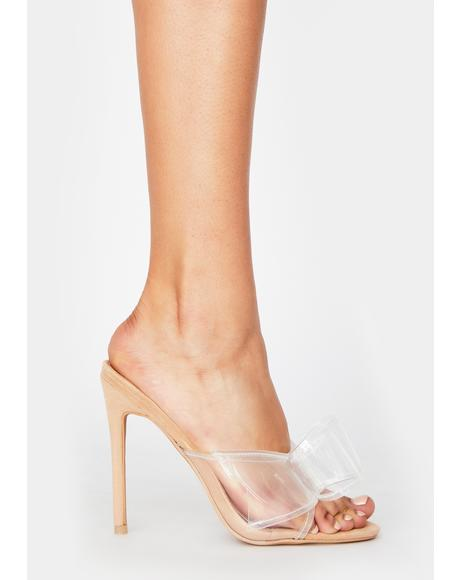 Nude Never Been Better Clear Heels