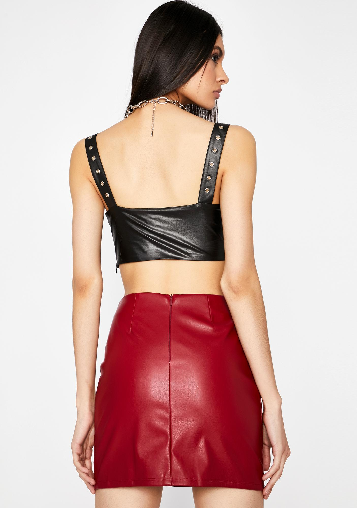 Hot Lost Angel Vegan Leather Skirt