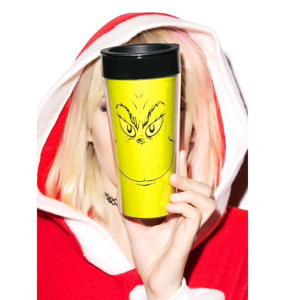 Grinch Plastic Travel Mug