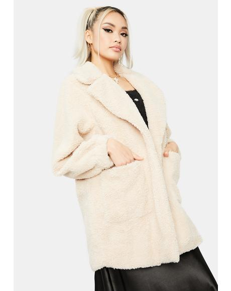 Beige Autumn Soul Teddy Coat
