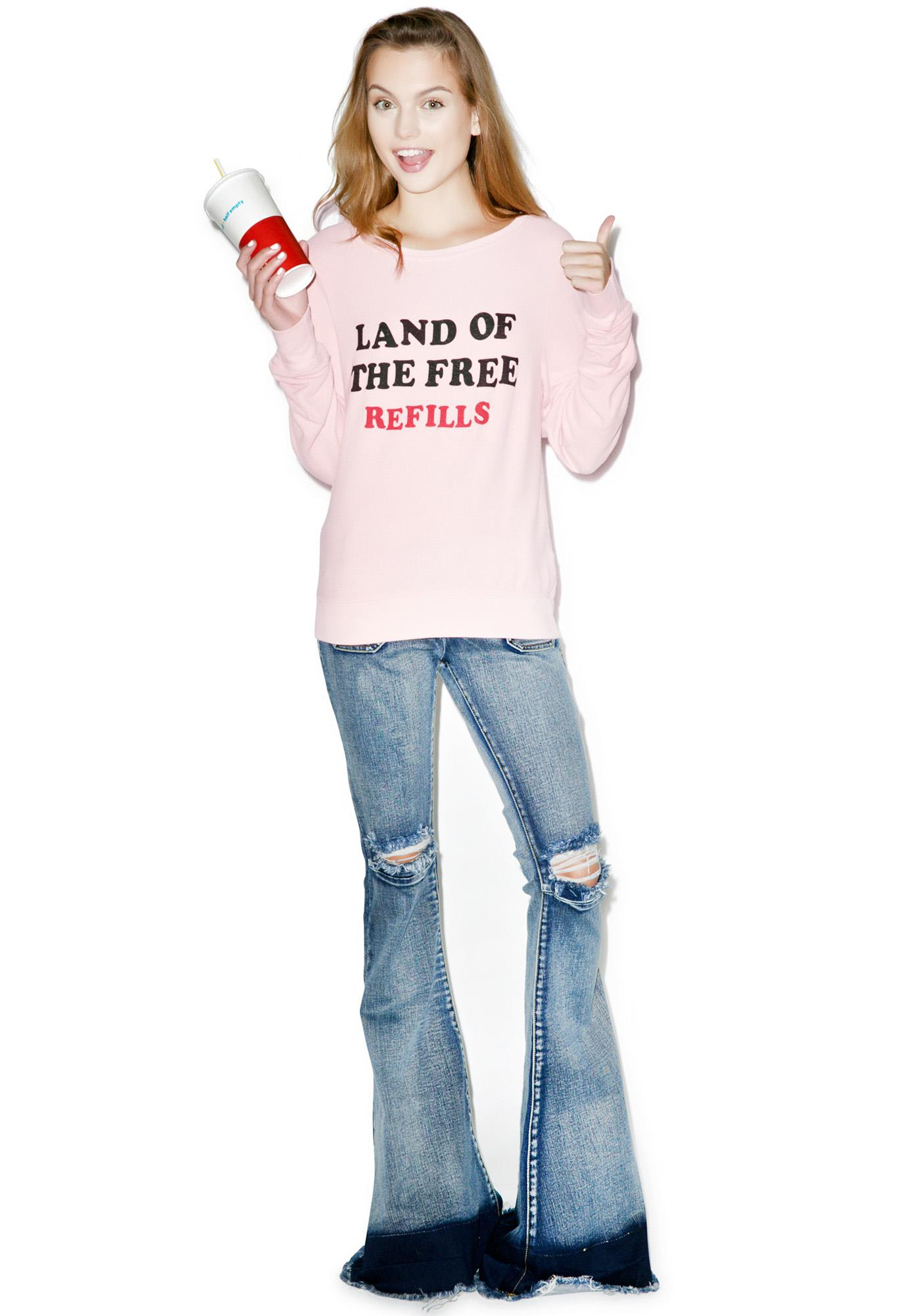 Wildfox Couture Free Refills Baggy Beach Jumper
