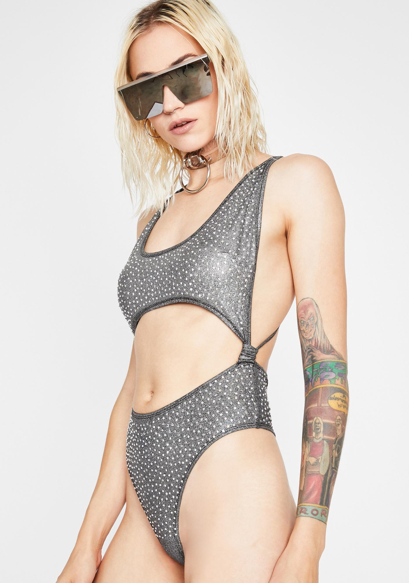 Dark Freak Affair Cut Out Bodysuit