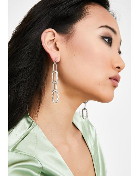 Just Joshin' Rhinestone Earrings