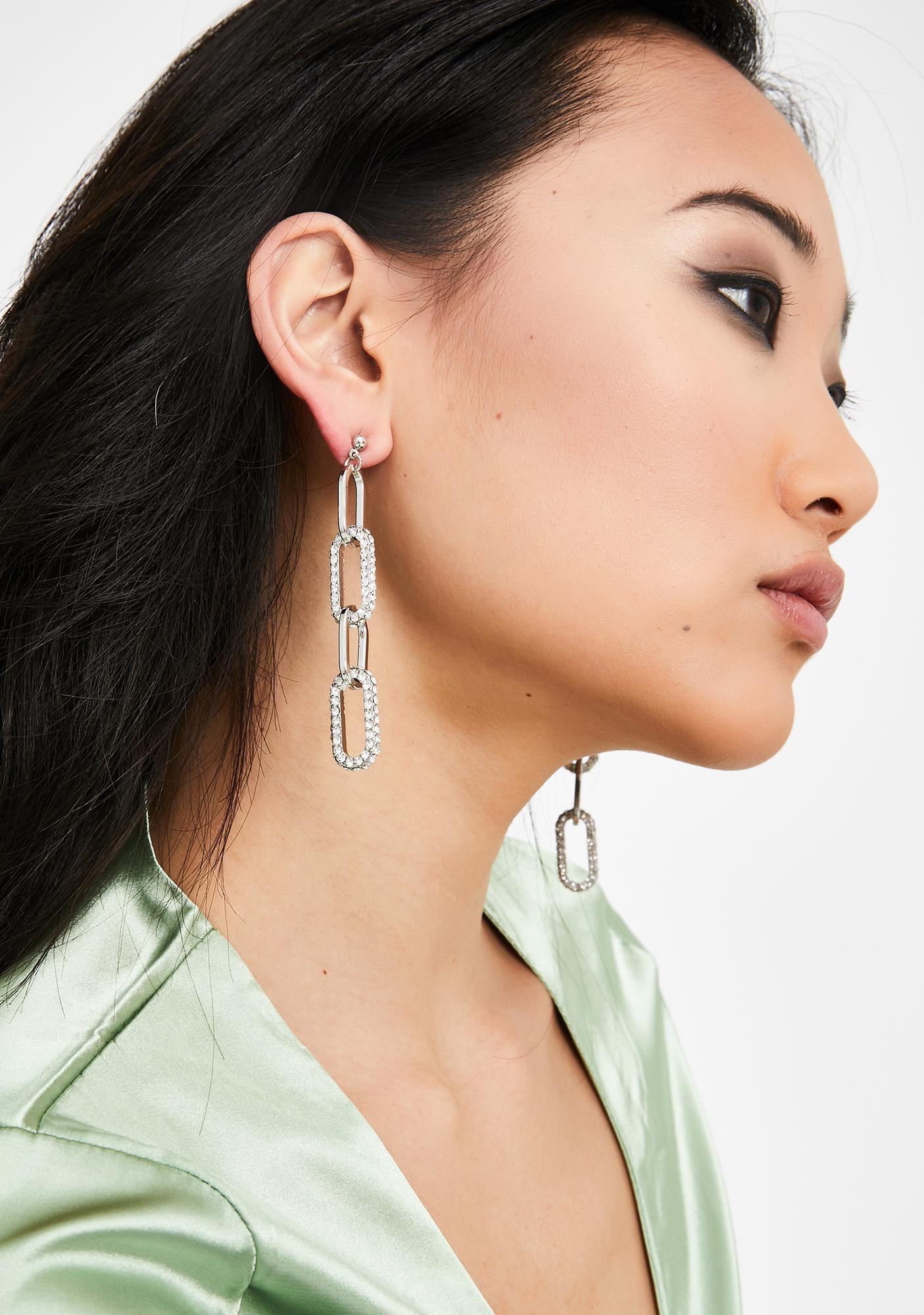Just Joshin' Rhinestone Earrings