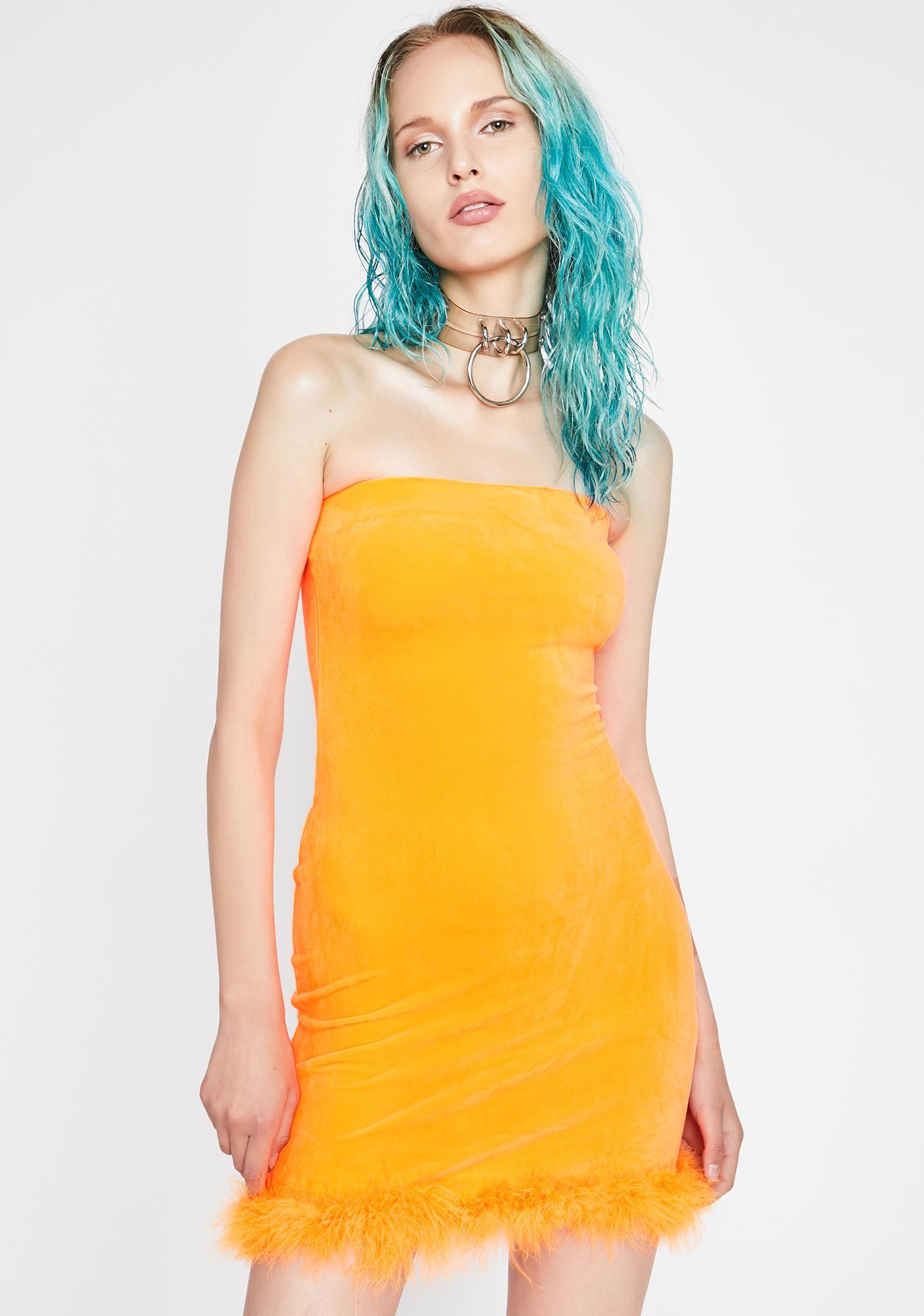 Hott Gossip Velour Dress