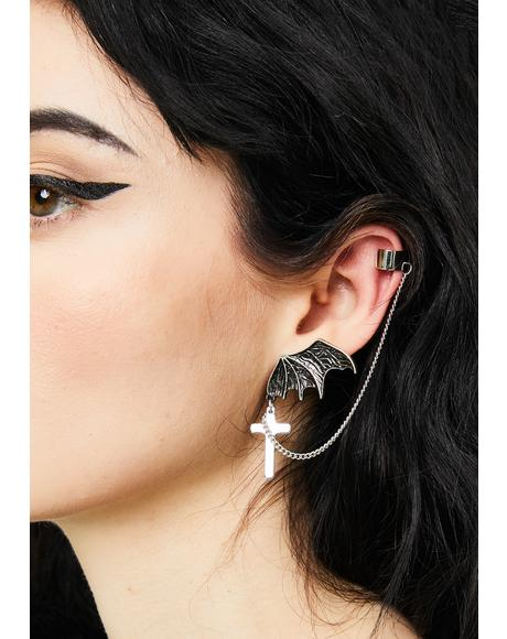 Batty Attitude Ear Cuff