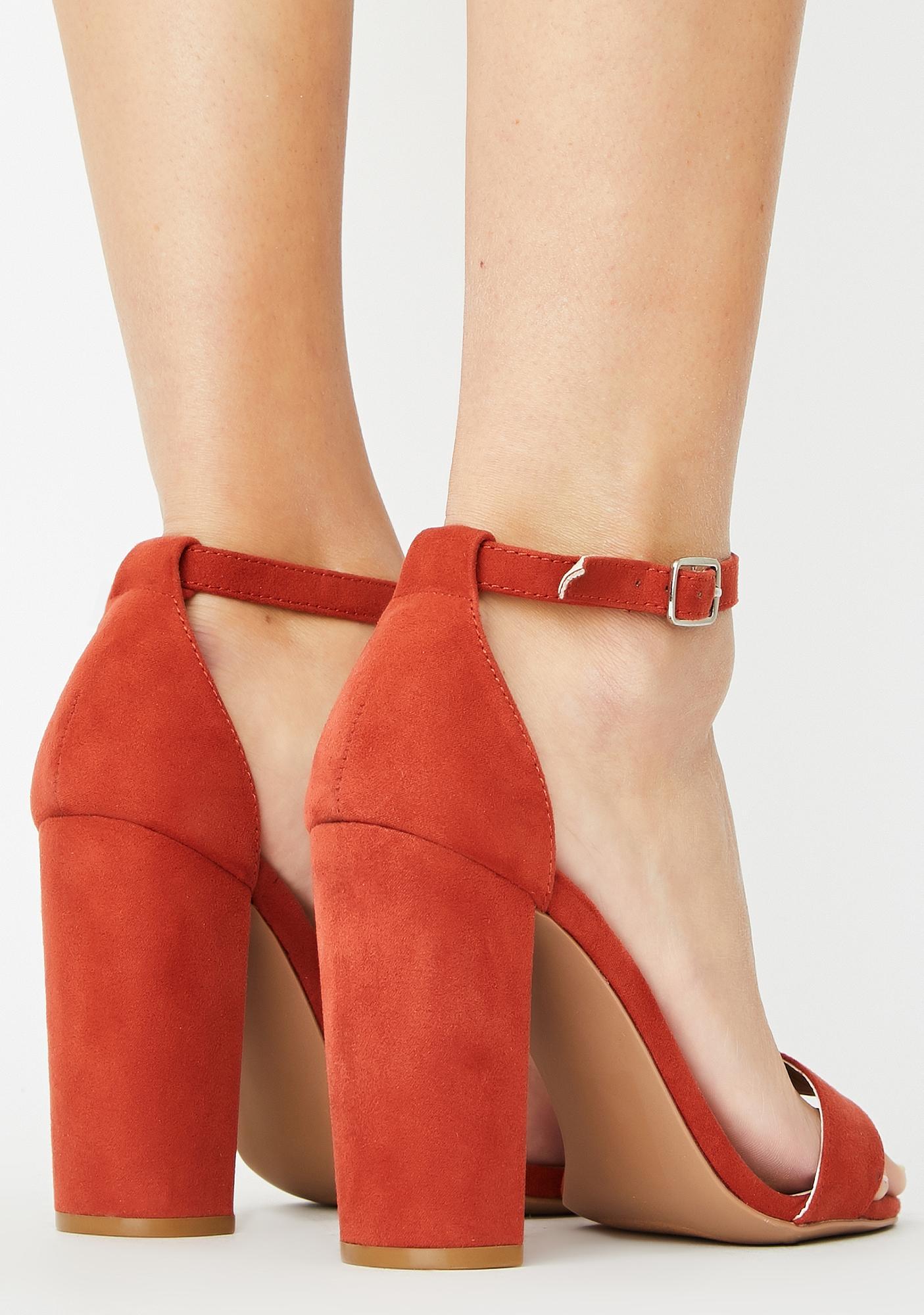 Hottie Always Flossin' Block Heels