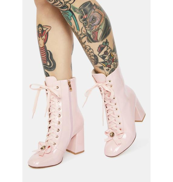 AZALEA WANG The One I Want Lace Up Boots