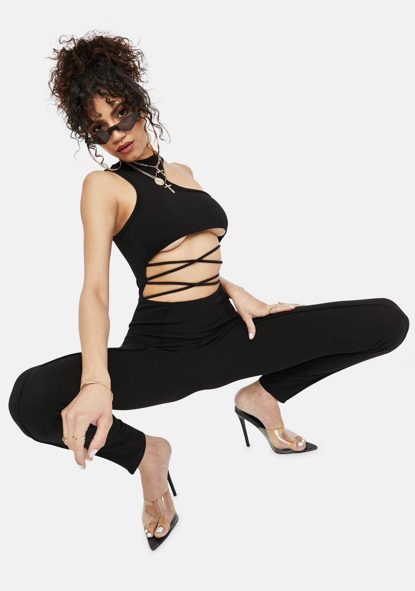 Totally Infamous Strappy Cutout Jumpsuit