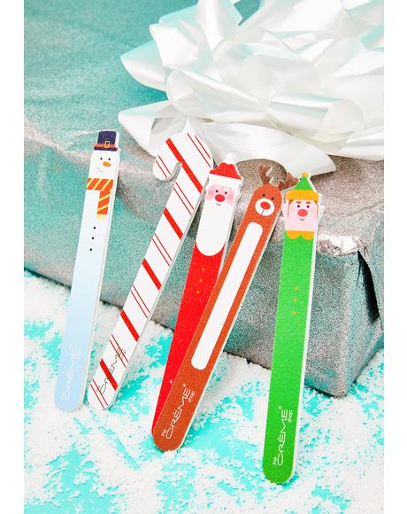 Holiday Nail File 5 Piece Gift Set