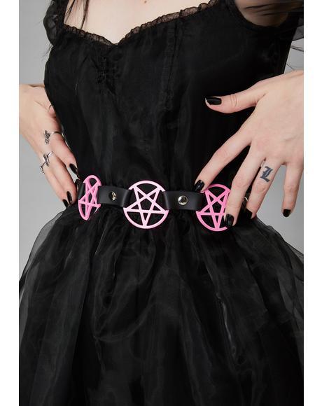Pink Pentagram Waist Belt
