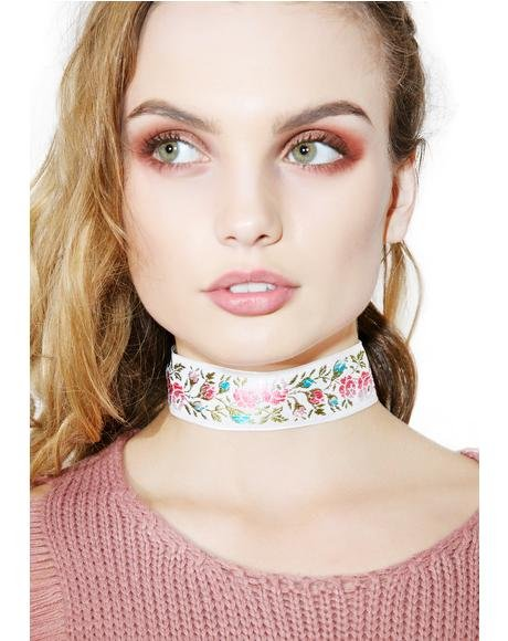 Far Out Floral Choker