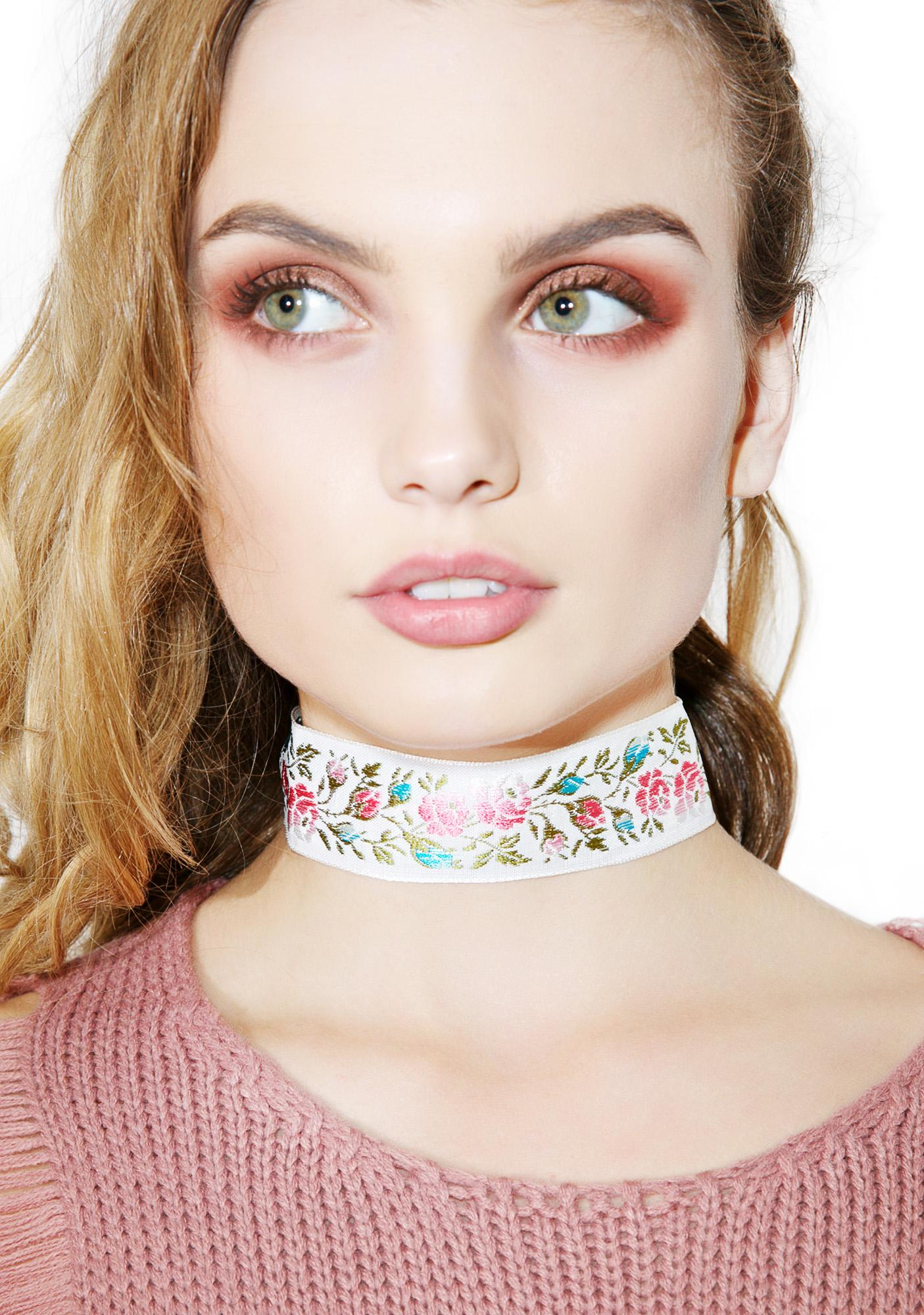 Fraiser Sterling Far Out Floral Choker