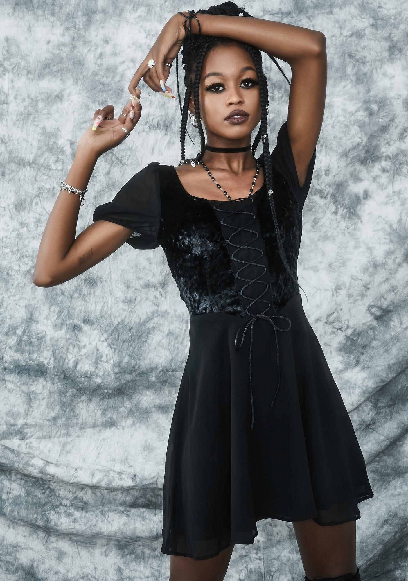dELiA*s by Dolls Kill Sorcery N' Stuff Babydoll Dress