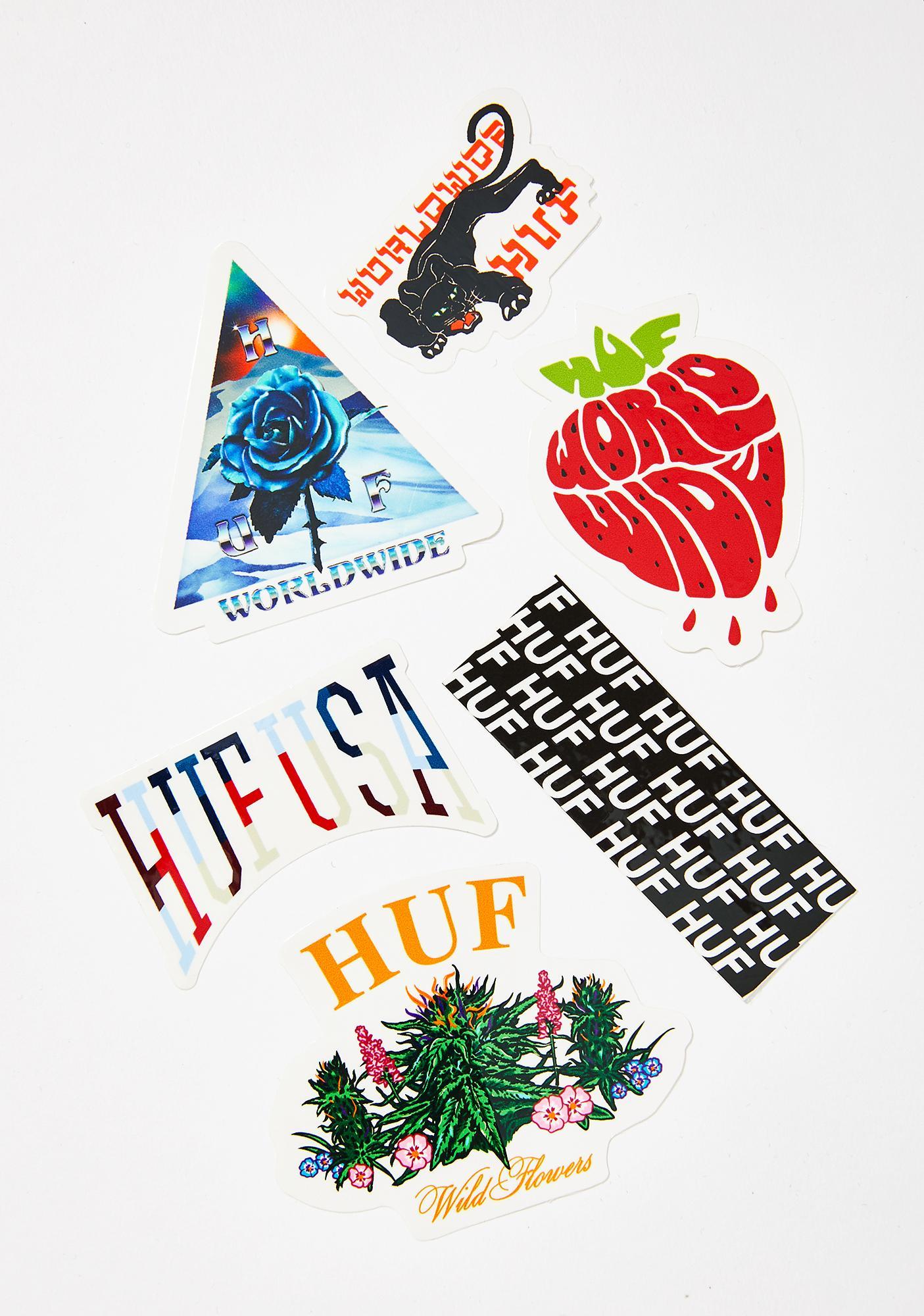 HUF Sticker Set