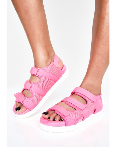Pretty Bright Sole Velcro Sandals