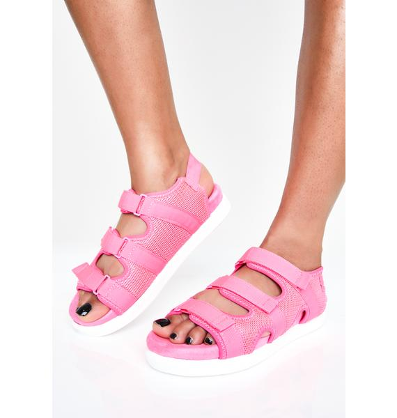 Pretty Bright Sole Velcro Sandals