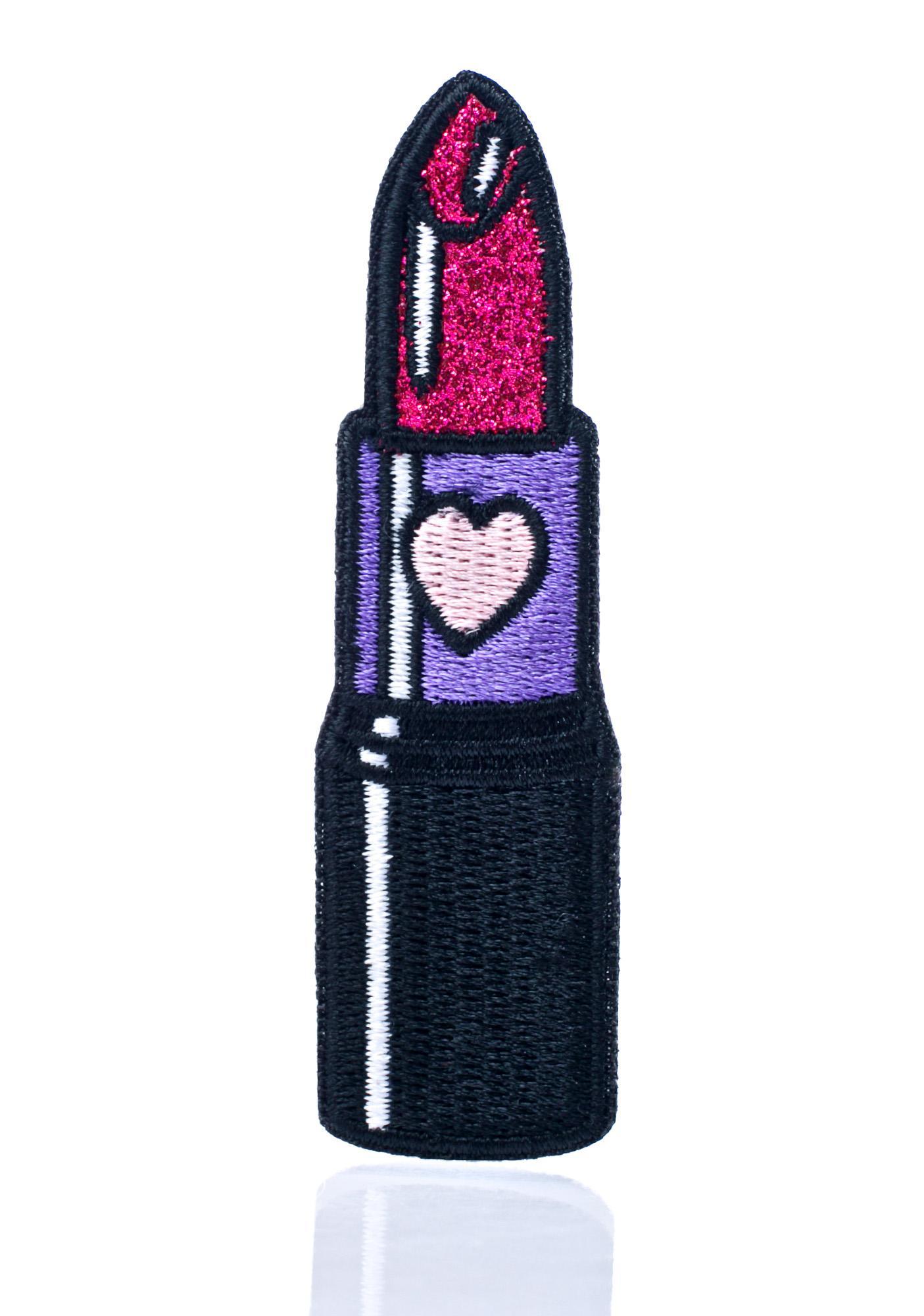 Laser Kitten Glitter Lipstick Patch
