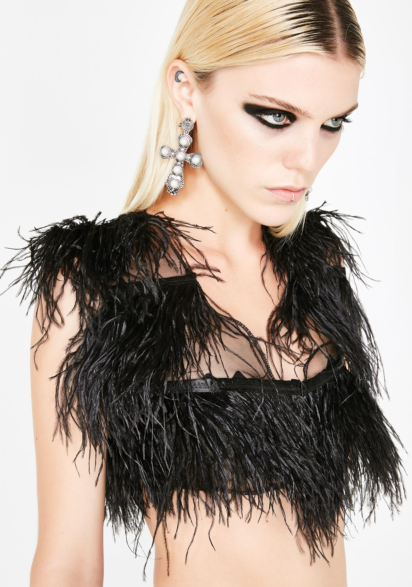 Frolic N' Vamp Feather Top
