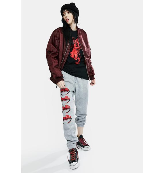 BOW3RY Cold Steel Graphic Sweatpants