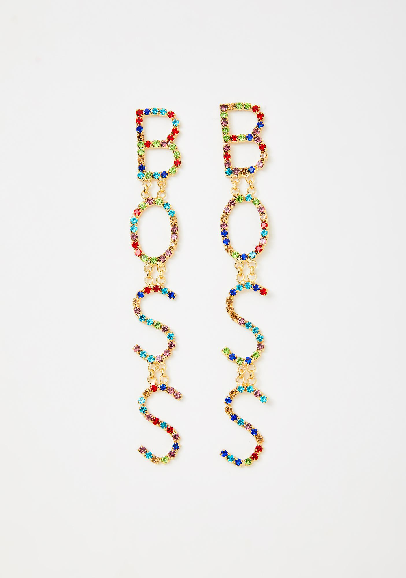 Why So Bossy Drop Earrings