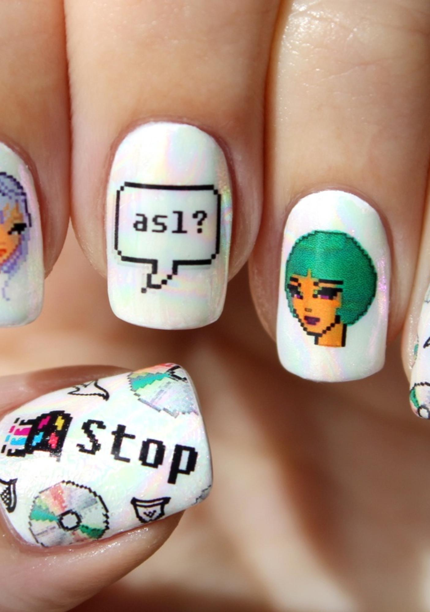 Nail Pop Cyber Girl 2.0 Water Slide Nail Decals