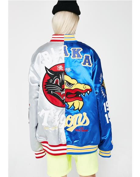 Play For Both Teams Varsity Jacket