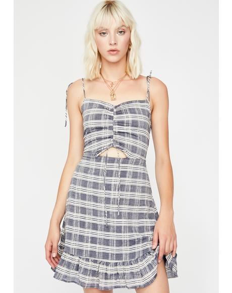 Moody Cutie Plaid Dress