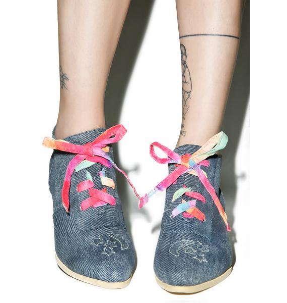 Y.R.U. Denim Aura Lo Ankle Boots