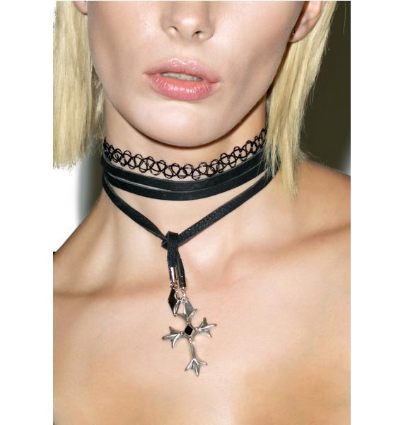 Vanessa Mooney Diamond 'N Cross Bolo Choker