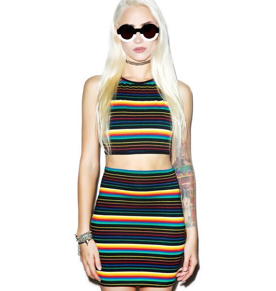 Motel Rainbow Kimmy Skirt