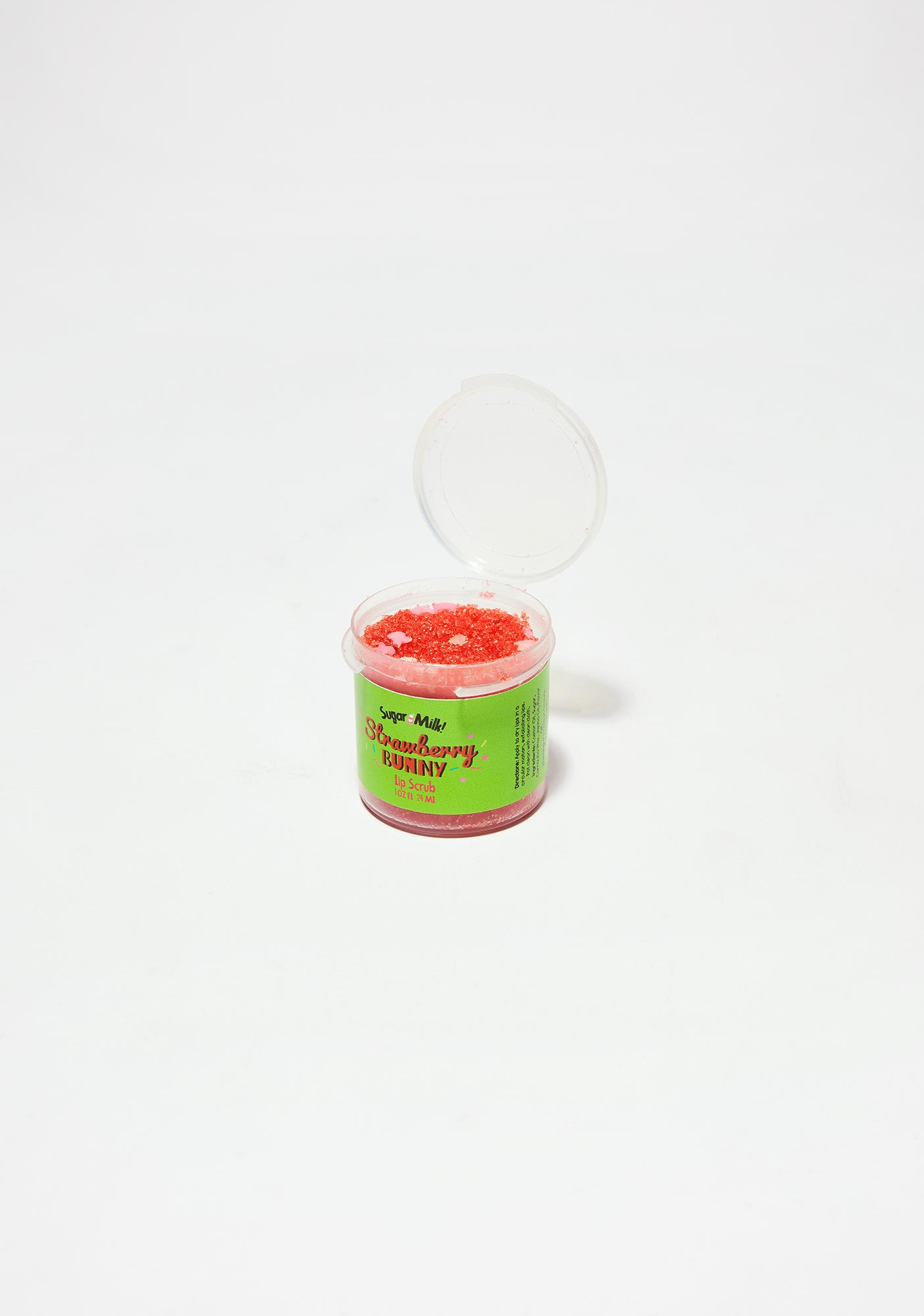 Sugar Milk Co Strawberry Pink Bunny Lip Scrub