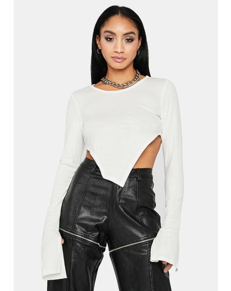 Chill Cutting U Off Asymmetrical Crop Top