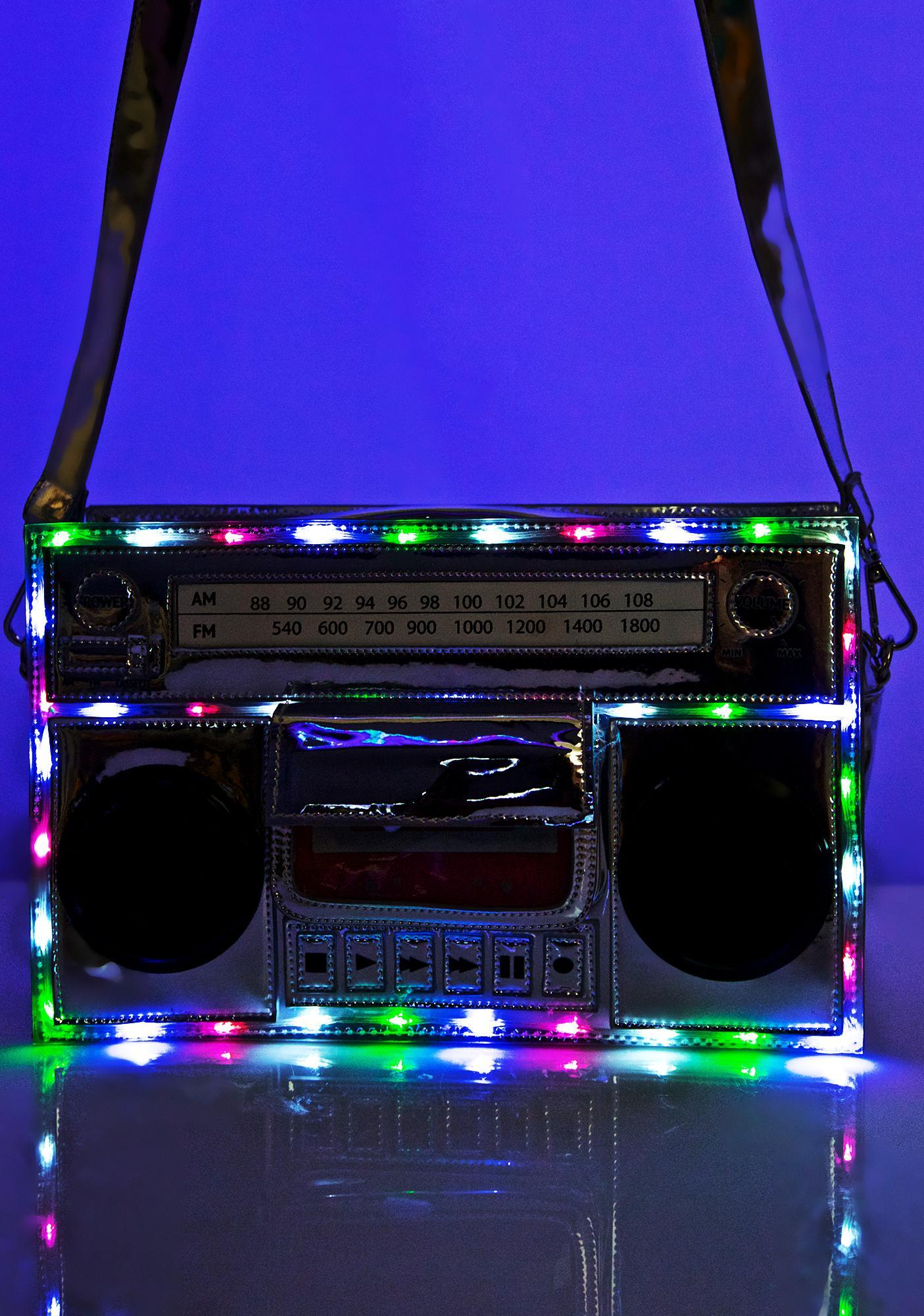 Current Mood Boombox Light-Up Bag